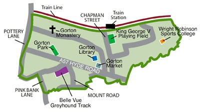 Gorton North Map