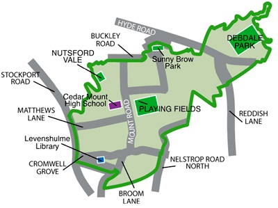 Gorton South Map