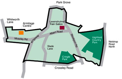 Map of Levenshulme