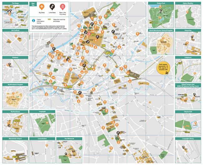 bee in the city map