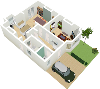 Floor Plan 3D Example T